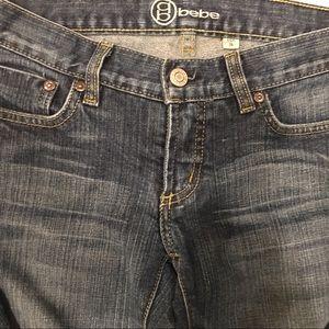 Bebe Stretch Jeans Style Carmen Sz 26 Flare leg